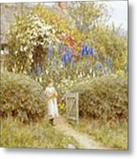 The Cottage Gate Metal Print