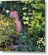 The Courtyard Garden, Fairfield Lodge Metal Print by The Irish Image Collection
