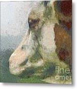 The Cow Portrait Metal Print by Odon Czintos