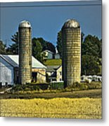 The Cows Have Come Home Metal Print by DigiArt Diaries by Vicky B Fuller
