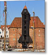 The Crane In Gdansk Metal Print
