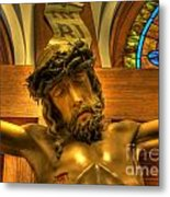 The Crucifiction Of Jesus Of Nazareth Metal Print by Lee Dos Santos