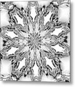 The Crystal Snow Flake Metal Print