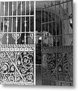 The Dakota Gates In Black And White Metal Print