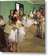 The Dance Class Metal Print by Edgar Degas