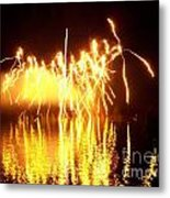 The Dance Of Fire And Water Metal Print
