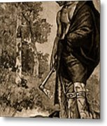 The Death Of Pontiac, 1769 Metal Print by Photo Researchers