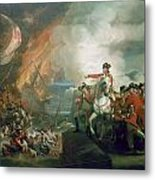 The Defeat Of The Floating Batteries At Gibraltar Metal Print