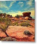 The Desert And The Sky Metal Print