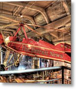 The Detroit News Airplane Dearborn Mi Metal Print