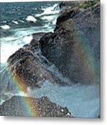 The Devils Washtub With Double Rainbow Metal Print