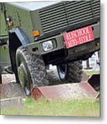 The Dingo 2 Mppv Of The Belgian Army Metal Print