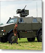 The Dingo II In Use By The Belgian Army Metal Print by Luc De Jaeger