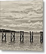 The Disappearing Pier Metal Print