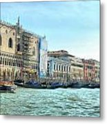 The Doge's Palace On The Grand Canal Metal Print