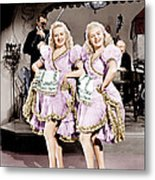 The Dolly Sisters, From Left Betty Metal Print