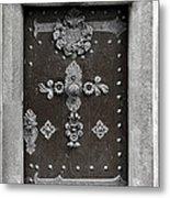 The Door - Ceske Budejovice Metal Print by Christine Till