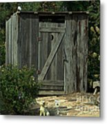The Double Seat Outhouse Metal Print
