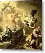 The Dream Of Saint Joseph Metal Print by Luca Giordano