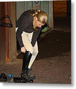 The Dressage Boots Metal Print