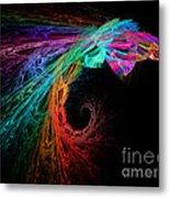 The Eagle Rainbow Metal Print
