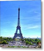 The Eiffel Tower Metal Print by Barry R Jones Jr