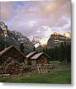 The Elizabeth Parker Hut, A Log Cabin Metal Print