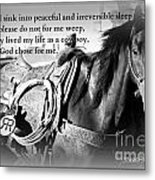 The Empty Saddle Metal Print