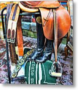 The English Saddle Metal Print by Paul Ward