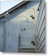 The Entry To A Metal Shed On A Sawmill Metal Print