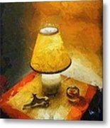 The Evening Lamp Metal Print
