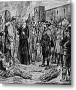 The Execution Of The Inca, 1533 Metal Print