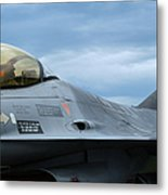 The F-16 Aircraft Of The Belgian Army Metal Print