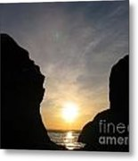 The Face In The Rock Metal Print