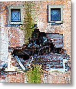 The Face Of A Quake Metal Print