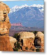 The Face Of Arches Metal Print