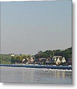 The Fairmount Dam And Boathouse Row Metal Print