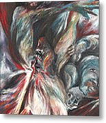 The Falling Figure Metal Print