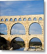 The Famous Pont Du Gare In France Metal Print