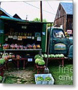 The Farmer's Truck Metal Print by Paul Ward