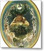The Faun And The Fairies Metal Print by Daniel Maclise