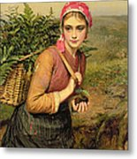 The Fern Gatherer Metal Print