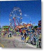 The Ferris Wheel At The Fair Metal Print