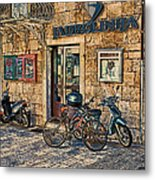 The Ferry Ticket Office Corfu Croatia Metal Print