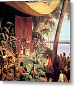 The First Mass Held In The Americas Metal Print