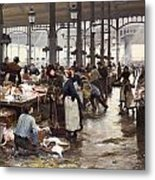 The Fish Hall At The Central Market  Metal Print