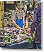 The Fish Monger Metal Print