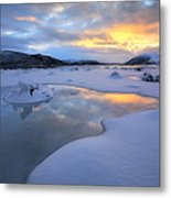 The Fjord Of Tjeldsundet In Troms Metal Print
