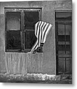 The Flag A Window And A Door Metal Print