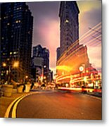 The Flat Iron Building With Some Magic Happening Metal Print